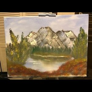 Other - Handmade Oil Mountain Painting